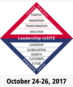 Leadership inSITE is a shared leadership development approach that builds leadership capability in four insights that are crucial for successful high potential leaders: Strategy, Innovation, Transformation, and Execution (SITE).